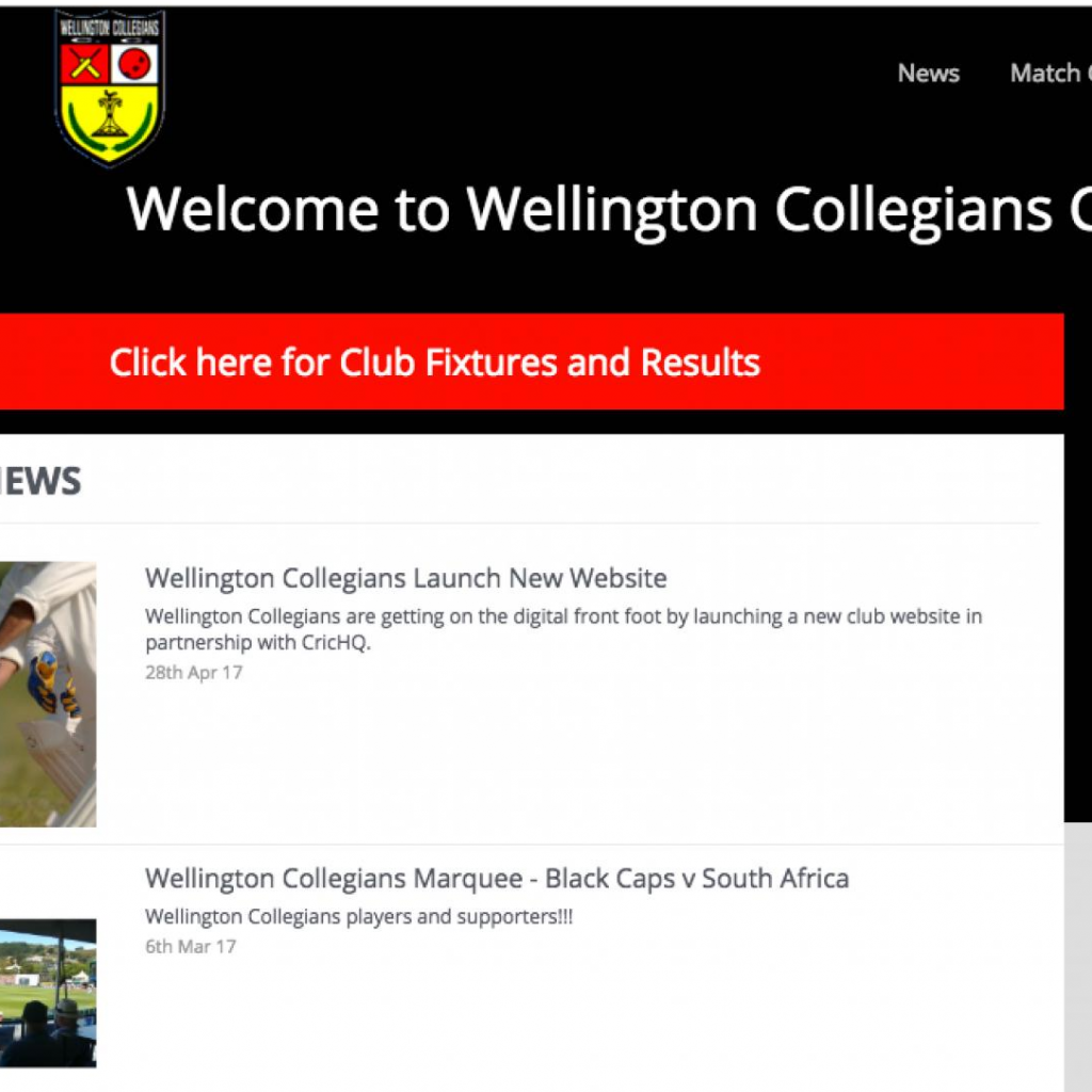 Wellington Collegians Launch New Website